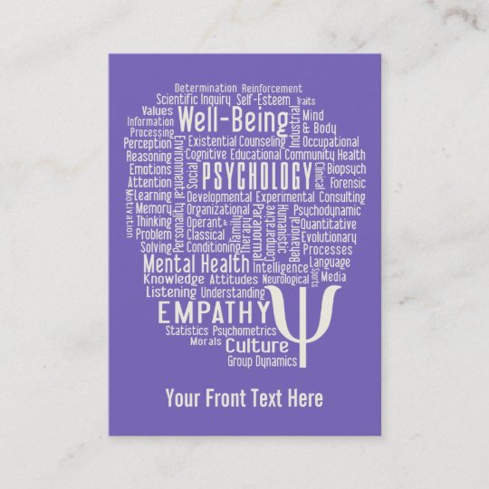 Psychology word cloud custom color business cards zazzle psychology word cloud custom color business cards reheart Choice Image