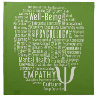 PSYCHOLOGY Word Cloud custom color cloth napkins