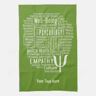 PSYCHOLOGY Word Cloud custom color hand towel