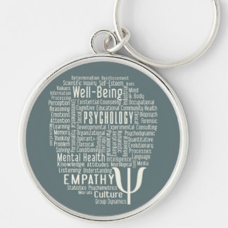 PSYCHOLOGY Word Cloud custom color key chain