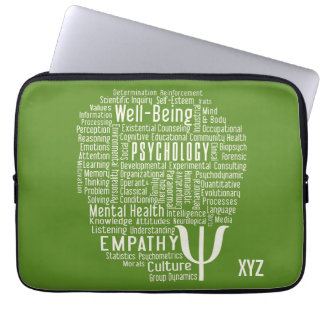 PSYCHOLOGY Word Cloud custom color laptop sleeves