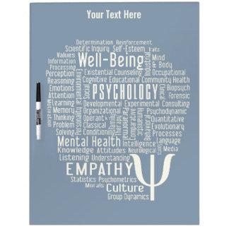 PSYCHOLOGY Word Cloud custom color message board