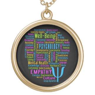 PSYCHOLOGY Word Cloud custom color necklace