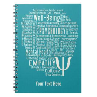 PSYCHOLOGY Word Cloud custom color notebook