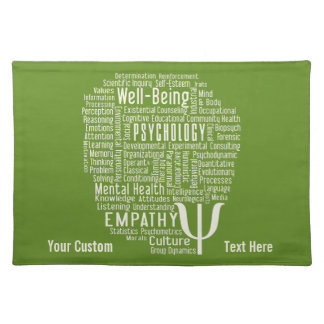 PSYCHOLOGY Word Cloud custom color placemat