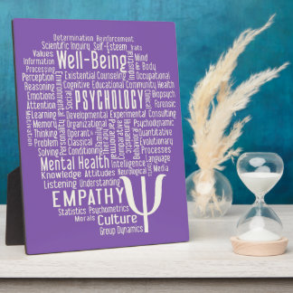 PSYCHOLOGY Word Cloud custom color plaque