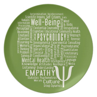 PSYCHOLOGY Word Cloud custom color plate