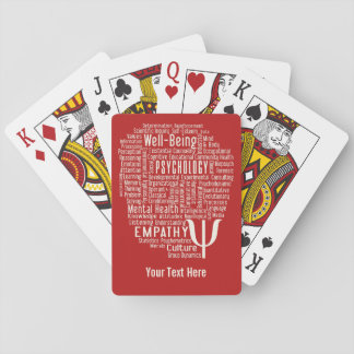 PSYCHOLOGY Word Cloud custom color playing cards