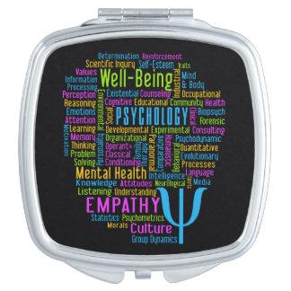 PSYCHOLOGY Word Cloud custom color pocket mirror Compact Mirror