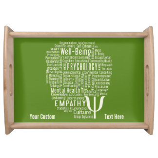 PSYCHOLOGY Word Cloud custom color serving tray
