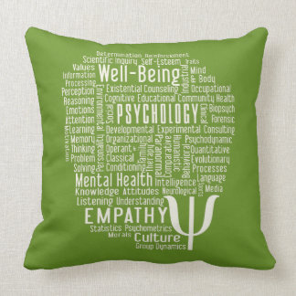PSYCHOLOGY Word Cloud custom color throw pillow