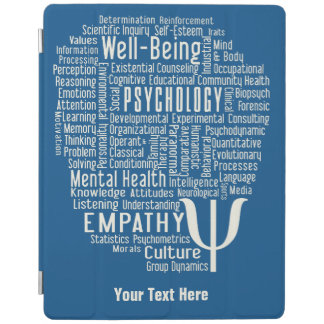 PSYCHOLOGY Word Cloud custom device covers iPad Cover