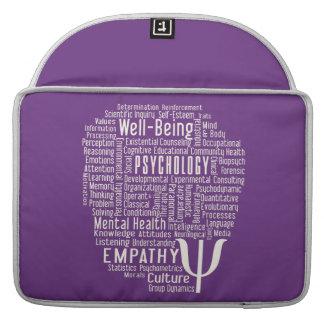 PSYCHOLOGY Word Cloud custom MacBook sleeves
