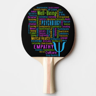 PSYCHOLOGY Word Cloud custom ping pong paddle