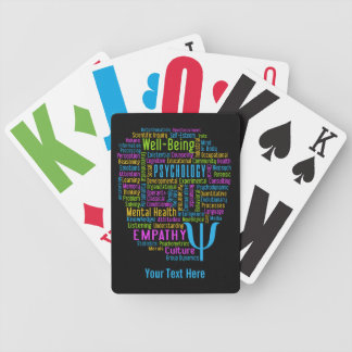 PSYCHOLOGY Word Cloud custom playing cards