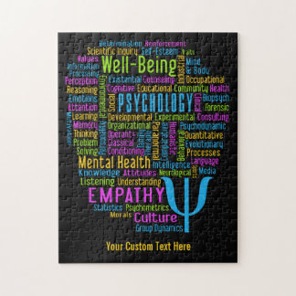 PSYCHOLOGY Word Cloud custom puzzle