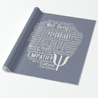 PSYCHOLOGY Word Cloud custom wrapping paper