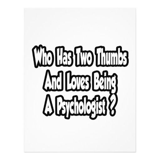 Psychololgist Joke...Two Thumbs Personalized Flyer