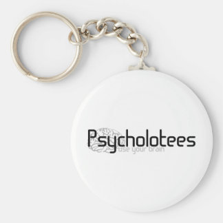 Psycholotees Basic Round Button Key Ring