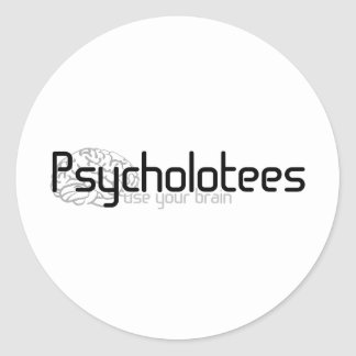 Psycholotees Classic Round Sticker