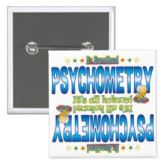 Psychometry Dr. B Head 15 Cm Square Badge