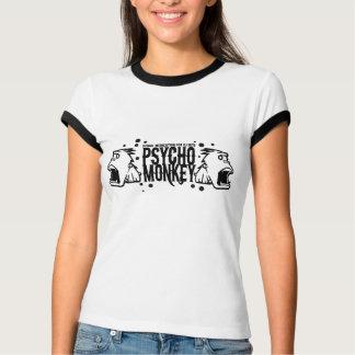 psychomonky_black and white T-Shirt