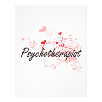 Psychotherapist Artistic Job Design with Hearts 21.5 Cm X 28 Cm Flyer