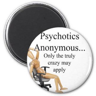 Psychotics 6 Cm Round Magnet