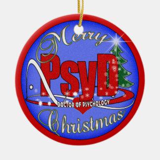 PsyD CHRISTMAS ORNAMENT DOCTOR OF PSYCHOLOGY
