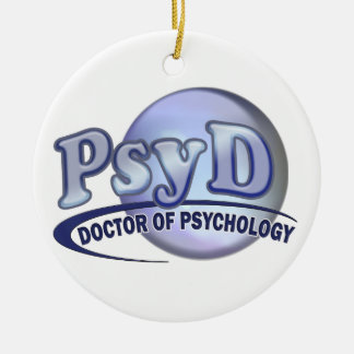 PsyD Doctor of Psychology LOGO Christmas Ornament
