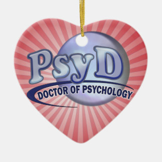 PsyD Doctor of Psychology LOGO Christmas Ornament