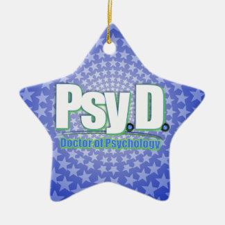 PsyD LOGO2 DOCTOR OF PSYCHOLOGY Christmas Ornament