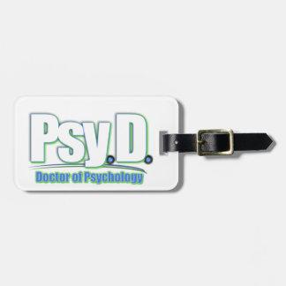 PsyD LOGO2 DOCTOR OF PSYCHOLOGY Luggage Tag