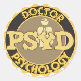 PsyD LOGO - DOCTOR OF PSYCHOLOGY Classic Round Sticker