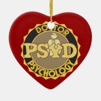 PsyD LOGO DOCTOR OF PSYCHOLOGY PSYCHOLOGIST Christmas Ornament