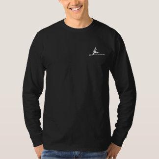Psydeer Black Longsleeve Back Detail T-Shirt