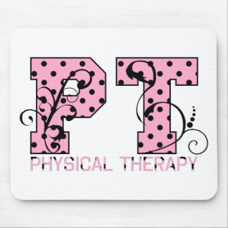 pt black and pink polka dots mouse mat