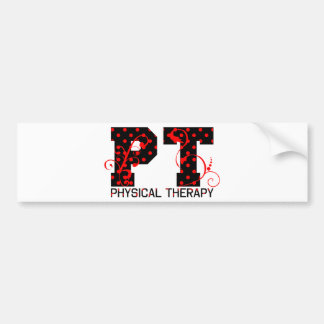 pt black red polka dots bumper sticker