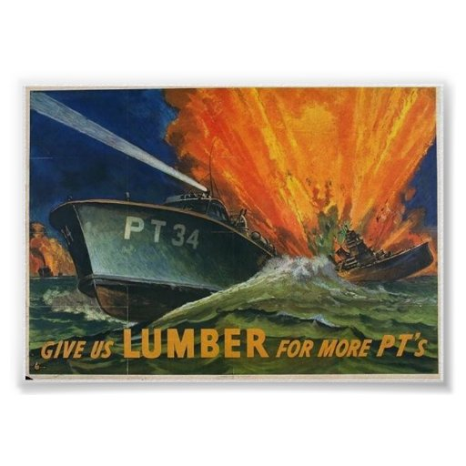 PT Boats WW2 Poster
