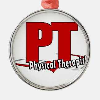 PT LOGO BIG RED    Physical Therapist Christmas Ornament