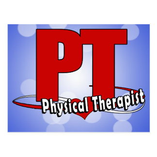 PT LOGO BIG RED Physical Therapist Post Cards