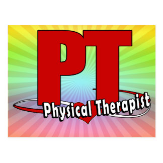 PT LOGO BIG RED Physical Therapist Postcards