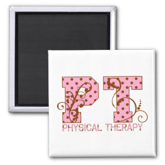 pt pink and brown polka dots magnet