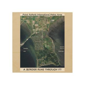 Pt Roberts satelite photo map art