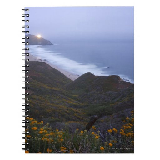 Pt. Sur Lightstation and flowering chapparal, Note Books