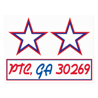 PTC GA 30269 - Two Stars Postcard
