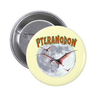 Pteranodon dinosaur 6 cm round badge