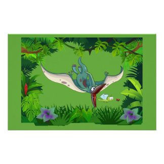 Pteranodon eating a dragonfly eating a ladybug stationery
