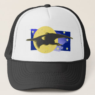 Pteranodon over Moon Trucker Hat