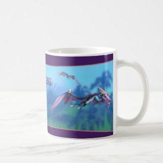Pterodactyl Dinosaur Basic White Mug